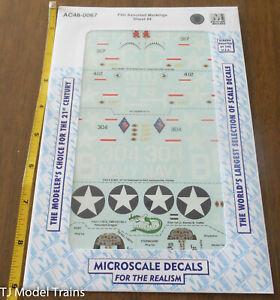 Microscale Decal 1/48  #AC48-0067 F4U Assorted Markings Sheet #4