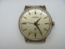 Vintage Soviet mechanical Men's Wrist Watch RAKETA USSR 2609 gold plated 1970's