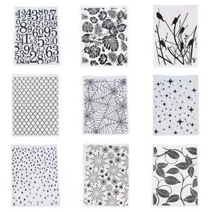 Plastic Embossing Folder Flower Stencil Die Template Scrapbooking Card Craft DIY