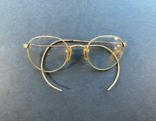 Vtg American Optical Ao 1/10 12K Gf Gold Fill Ful-Vue Wire Ladies Eyeglass No Rx
