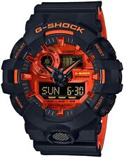 Casio G-Shock GA-700BR-1A Analog-Digital Black and Orange Resin Watch