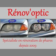 KIT RÉNOVATION PRO OPTIQUE / GLACE DE PHARE POLYCARBONATE COMPLET ET UNIVERSEL