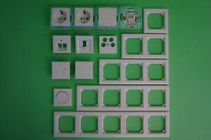 Merten System M / Rahmen M-Smart polarweiß glänz. Steckdose Schalter Wippe-Ausw.