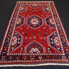 Orient Teppich Rot 260 x 160 cm Perserteppich Handgeknüpft Red Carpet Rug Tapis