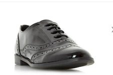 Robert Vianni FALLOW Black Patent Lace Up Brogue Shoes UK5 EU38 LG01 87 SALEw