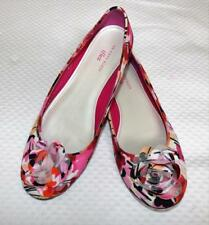 AK ANNE KLEIN FLORAL BOUQUET BALLET FLATS 11 pretty PINK designer COMFORT SHOES