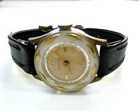 Ladies Vintage MANSON GOLD-LEAF DIAMOND-TOOLED SWISS MADE MANUAL WIND Watch