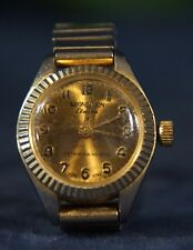 VINTAGE 1970s KRONOTRON ELECTRA Gold Tone Mechanical Watch