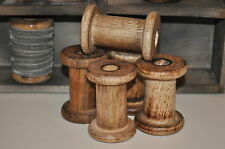 Set of 3 Antique Vintage Style Wooden Bobbins Spools DIY Kids Party Craft Decor