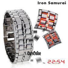 Orologio Digitale Polso Bracciale A Led Display Uomo Bambino Iron Samurai Watch