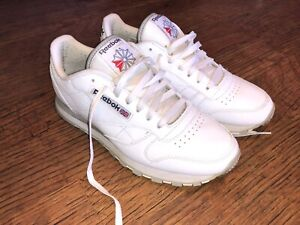 Reebok Classic White Trainers UK 8
