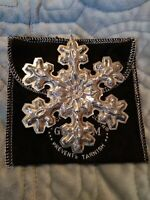 1976 Gorham Sterling Silver Annual Christmas Snowflake Ornament 3 1/2 with Pouch