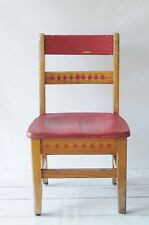 Vintage School Chair Childs Eames Era MidCentury Stool Wood Metal Chair