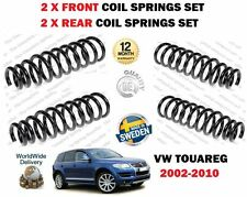 FOR VW TOUAREG 2.5 3.0 TDI 3.2V6 2002-2010 2X FRONT + 2 X REAR COIL SPRINGS KIT