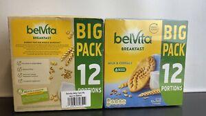2 x BelVita Breakfast Milk & Cereals, 12 x 4 Biscuits Pack Wholegrain