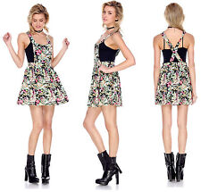 Above Knee, Mini Casual Floral Sleeveless Dresses for Women
