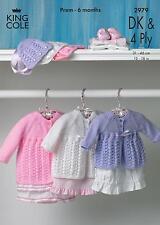 King Cole 2823 Knitting Pattern Baby Sweater Jacket & Sleeping Bag in DK