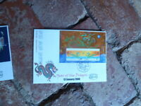 2000 ALPHA FIRST DAY COVER  YEAR OF THE DRAGON  MINI SHEET