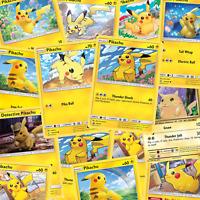 5 verschiedene PIKACHU Karten mit 1 Reverse HOLO Pikachu | Pokemon Karten