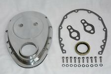 Small Block Chevy Polished Aluminum Timing Chain Cover Kit 283 327 350 400 SBC