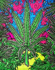 Glow In The Dark Leaf Magic - Opticz Cloth Fabric Poster                 - 24x29