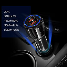 Genuine rápido de doble puerto cargador de coche QC 3.0 carga rápida USB cargador de coche