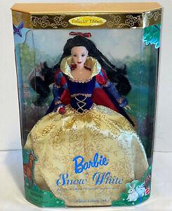 "Disney 12"" Holiday Princess SNOW WHITE & 7 Dwarfs Barbie Doll Collector Edition"