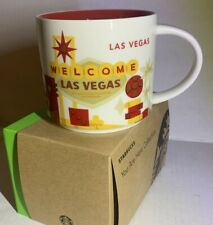 STARBUCKS Coffee Mug Cup Retired LAS VEGAS Nevada You Are Here Collection 14 oz