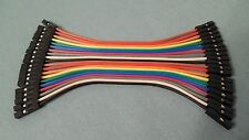 20pc 10cm 2.54mm 1pin Female to Female Jumper Wire Dupont Cable