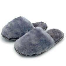 Russian Men's fur Slippers Sheepskin with rubber soles