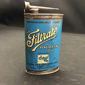 FILTRATE PENETRATING OIL CYCLE OILER TIN CAN LEEDS