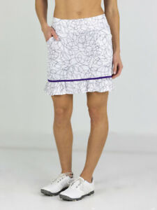Jofit Womens Piped Ruffle Skort Long Siera Swirl - Choose Size and Color
