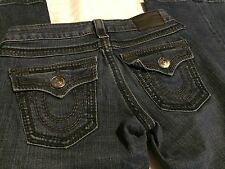 Women's True Religion Joey Big T Twisted Boot Cut Flare Jeans Size 26 X 32