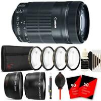 Canon EF-S 55-250mm F4-5.6 IS STM Lens with Bundle Kit for Canon DSLR Cameras
