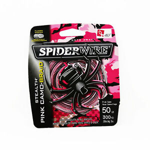 SpiderWire Stealth Superline Fishing Line 50lb 300yd, Pink Camo