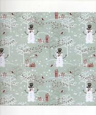 10 x A4 sheets CHRISTMAS  Snowmen Card stock - Free 1st class post
