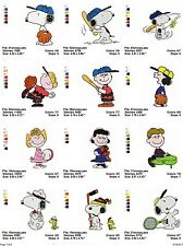 Peanuts & The Gang, 20 embroidery machine designs on CD, Multi Formats available