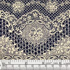 Cotton Fabric FQ - Vintage Cream Floral Retro Flower Lace Print Dress Quilt VK19