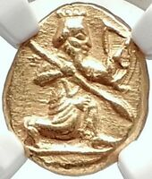 ACHAEMENID EMPIRE Sardes Lydia 485BC Gold Daric Ancient Greek Coin NGC AU i70330