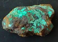 Malachite on Quartz. Mount Isa, Queensland, Australia.                      S559