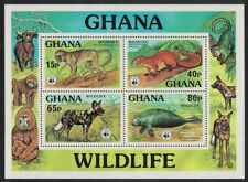 Ghana WWF Monkey Squirrel Dugong Endangered species MS MNH SG#MS815 MI#Block 71