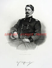 Civil War General WINFIELD SCOTT HANCOCK ~ Antique Old 1866 Art Print Engraving