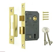 "Genuine ERA 3 Lever Mortice Sash Lock For Timber Doors - 2.5"" (65mm) - Brass"