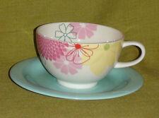 "2 x Portmeirion Breakfast Cup and Saucer - ""Crazy Daisy"" design"