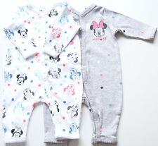 2x Schlafanzug Gr.50 H&M NEU m.E 100% Baumwolle Einteiler Set Minnie Frühchen