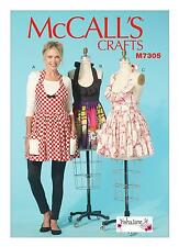 McCalls SEWING PATTERN M7305 To Make Misses Aprons S-XL