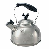 Disney Mickey Mouse IH Stainless Steel Whistling Kettle Pot Silver x Black Cute