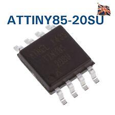 ATMEL ATTINY 85-20SU MCU, 8BIT, ATTINY, 20 MHz, SOIC - 8 ATTINY 85 SMD UK STOCK