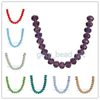 18mm 5040# Glass Crystal Loose Rondelle Spacer Beads Free Shipping 21Colors