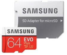 Samsung EVO PLUS 64GB microSD 100MB/s C10 U3 UHS-I microSDXC micro SD MB-MC64GA